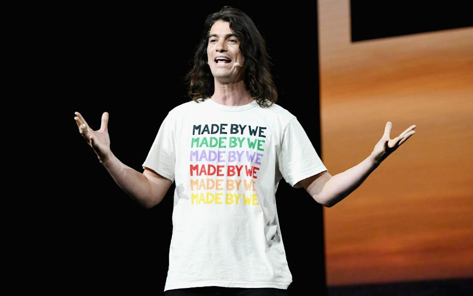 Adam Neumann speaks onstage during WeWork Presents Second Annual Creator Global Finals at Microsoft Theater in 2019 - Michael Kovac/Getty Images Contributor