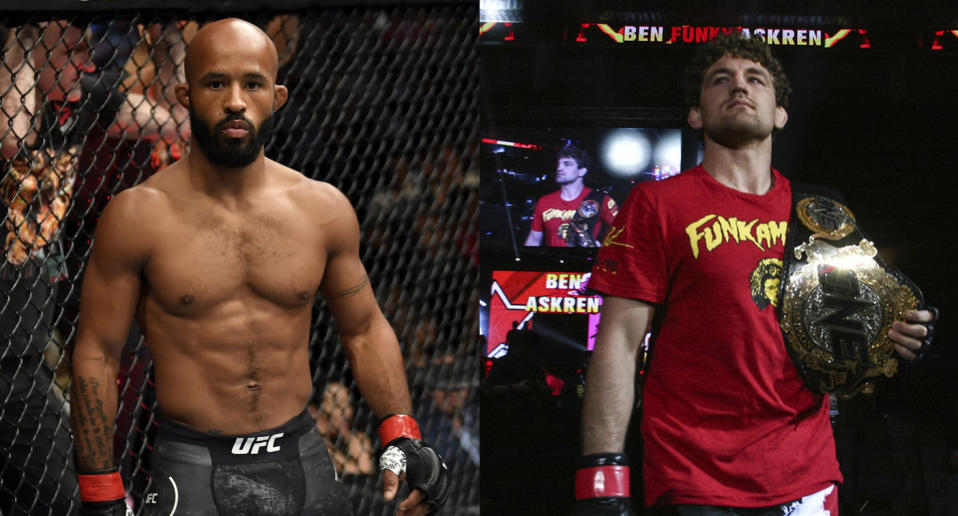 Former UFC champion Demetrious Johnson is reportedly headed to ONE Championship in a trade for Ben Askren. (Getty Images)