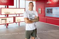 <p>Ambassador Caeleb Dressel visits the OMEGA Showcasing in Tokyo during the 2020 Olympics.</p>