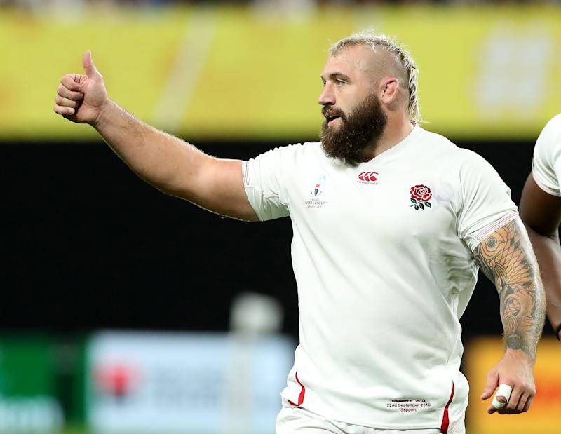 SAPPORO, JAPAN - SEPTEMBER 22: Joe Marler of England looks on during the Rugby World Cup 2019 Group C game between England and Tonga at Sapporo Dome on September 22, 2019 in Sapporo, Hokkaido, Japan. (Photo by David Rogers/Getty Images)