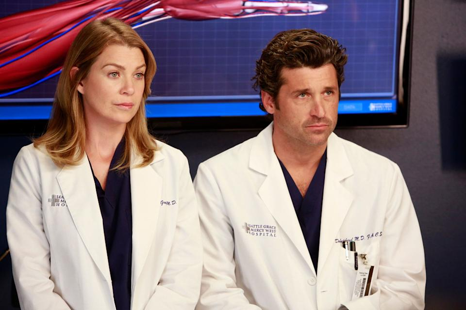 "Ellen Pompeo and Patrick Dempsey on ""Grey's Anatomy"" (Photo: Ron Tom/ABC via Getty Images) ELLEN POMPEO, PATRICK DEMPSEY"
