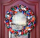 """<p>Once those bulbs are burned out, upcycle them into a front door wreath! If bulbs are black and burnt, give them a coat of colorful paint so they fit in with the rest of the collection.</p><p><a href=""""http://www.mommyiscoocoo.com/2012/12/christmas-wreath-made-from-burnt-out.html"""" rel=""""nofollow noopener"""" target=""""_blank"""" data-ylk=""""slk:Get the tutorial at Mommy Is Coocoo »"""" class=""""link rapid-noclick-resp""""><em>Get the tutorial at Mommy Is Coocoo »</em></a></p>"""