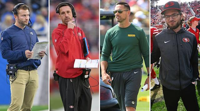 Left to right: McVay and Kyle Shanahan have established themselves as head coaches in the NFC West, while Matt LaFleur is the new guy in Green Bay and McDaniel serves as one of Shanahan's co-offensive coordinators. | Getty Images (4)