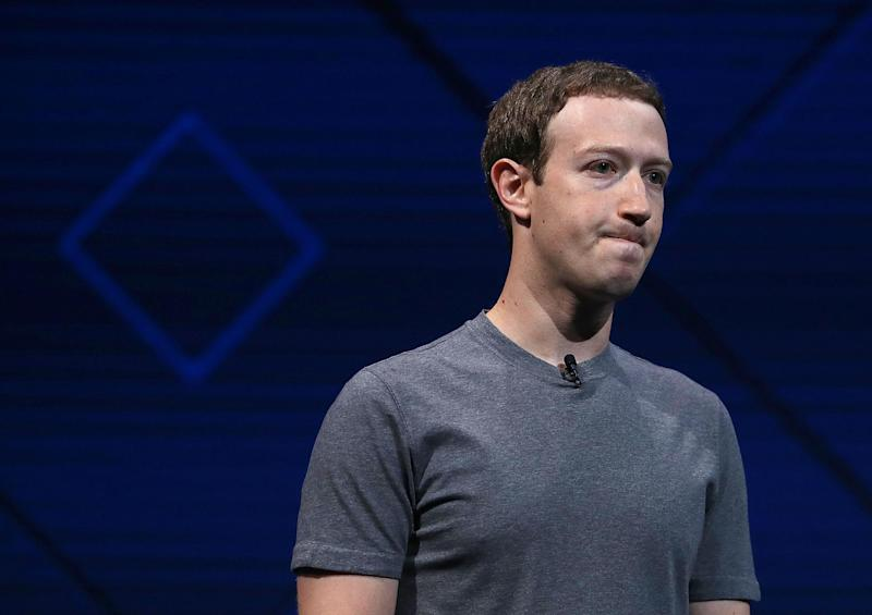 Zuckerberg might play the benevolent guru with his grey T-shirts but his mask on this issue has slipped: Getty