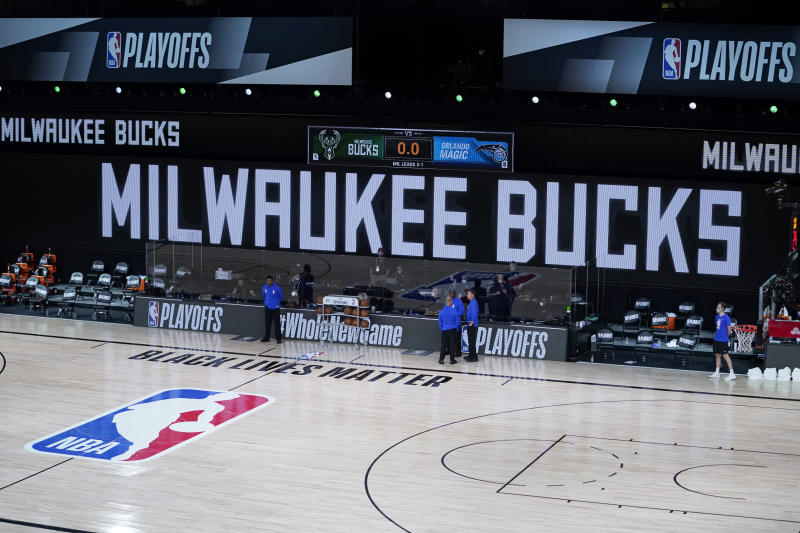 Following the shooting of Jacob Blake, the Milwaukee Bucks decided basketball could wait. (Ashley Landis-Pool/Getty Images)