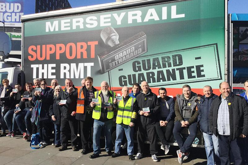 "Walkout: workers at three rail companies are said to be ""solidly supporting"" strikes: PA"