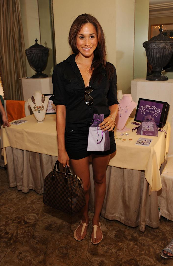 Meghan Markle in 2009 in Beverly Hills, California. (Getty Images)