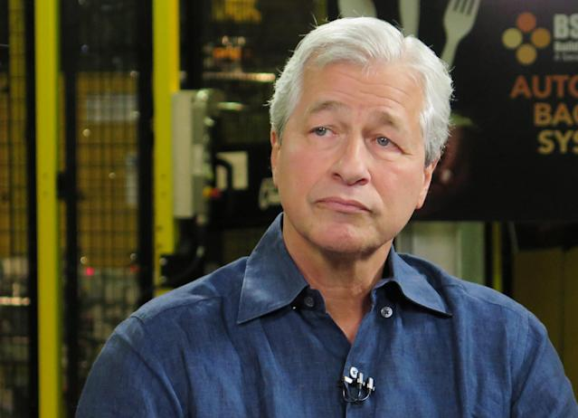 "JPMorgan Chase CEO Jamie Dimon, who has dismissed bitcoin as a a ""fraud"""