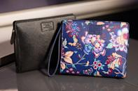 <p><span>Reduce the chances of ever being seen with the same bag as someone else, by getting one that's only available only to your fellow First Class passengers. British Airways has teamed up with British brand Liberty London to createhese exclusive, elegant wash bags. The designs – which come in either black or oriental t-inspired floral print – are crammed with Aromatherapy Associates products, so you can rest easy knowing your skin's being well cared for. [Photo: British Airways]</span> </p>