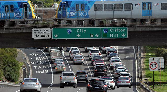 Traffic congestion is seen at the Hoddle Street exit of the Eastern Freeway in Melbourne. Source: AAP / Stock image