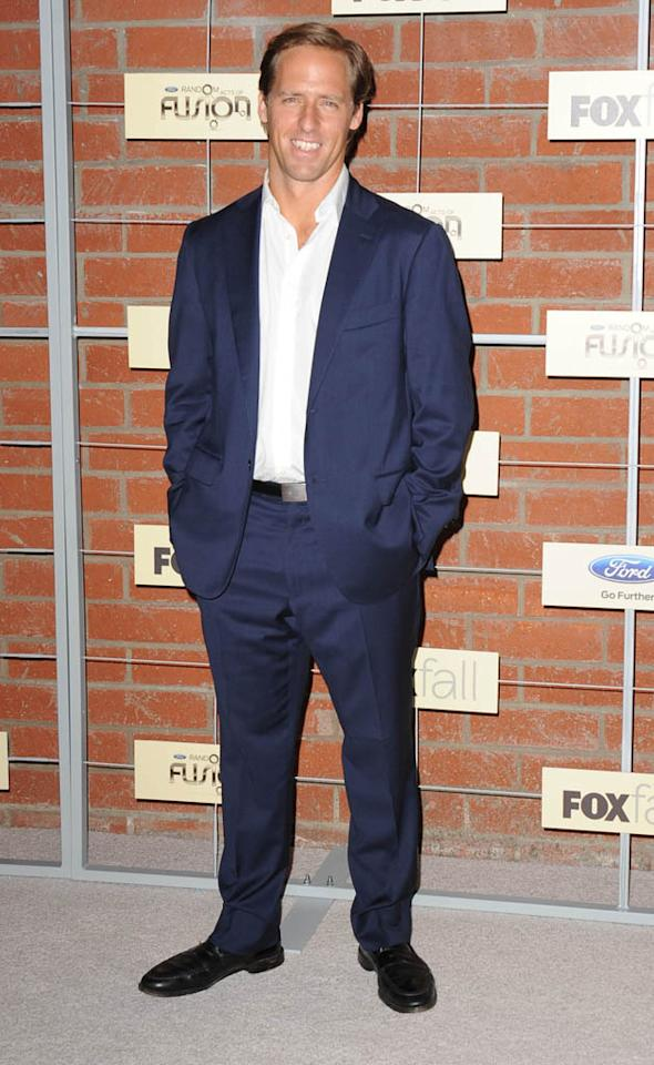 """Nat Faxon (""""Ben and Kate"""") attends Fox's Fall 2012 Eco-Casino party at The Bookbindery on September 10, 2012 in Culver City, California."""