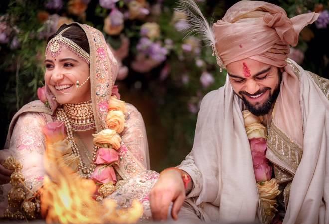 The celebrity couple's wedding was one of the most-awaited event in Bollywood and cricket worlds.