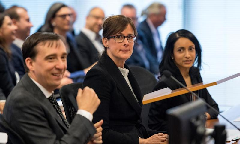 Mark Costello, Senior Counsel Rowena Orr, and Eloise Dais during the Royal Commission's initial public hearing