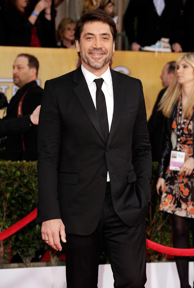 Javier Bardem arrives at the 19th Annual Screen Actors Guild Awards at the Shrine Auditorium in Los Angeles, CA on January 27, 2013.