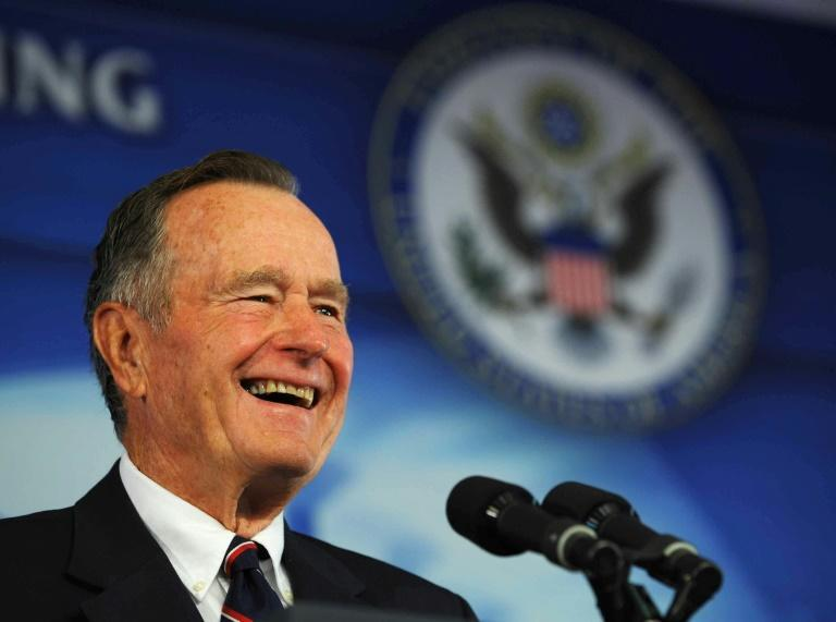 Former US president George Bush -- seen here in 2008 -- served one term as president but lost in 1992 to Democrat Bill Clinton