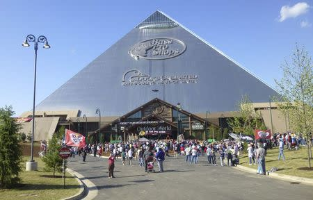 The Iconic Memphis Pyramid Is Shown In Downtown