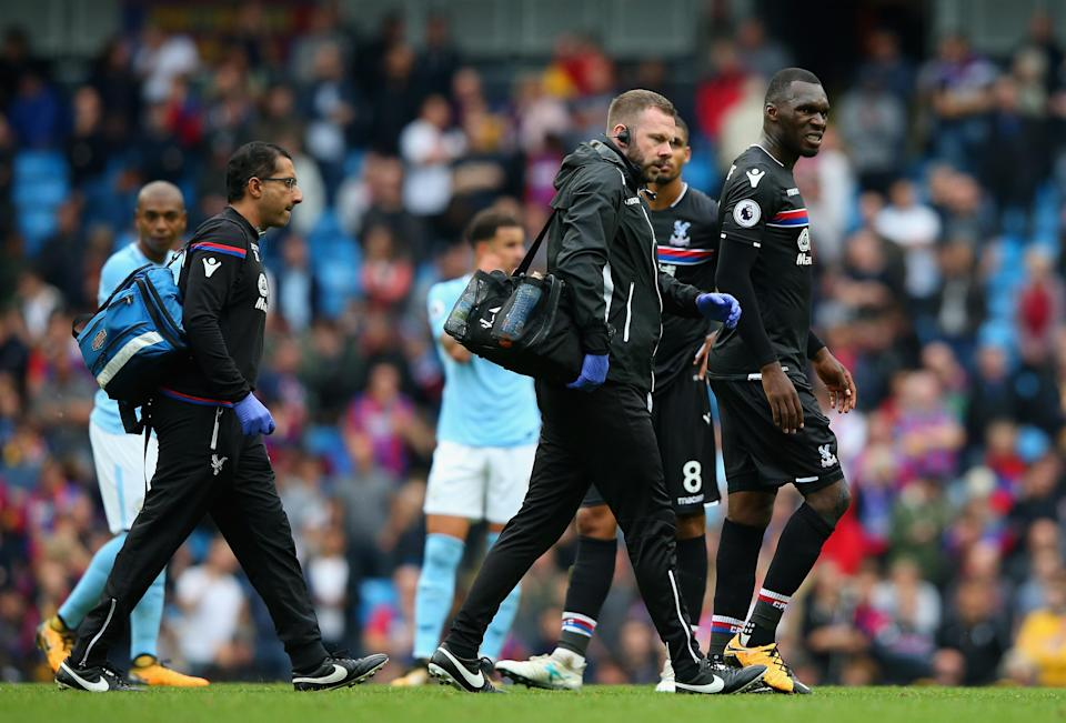 Christian Benteke will miss next week's trip to Manchester United after picking up ligament damage on Saturday