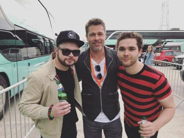 UK duo Royal Blood got up close and personal with the star at Glasto. Source: Instagram