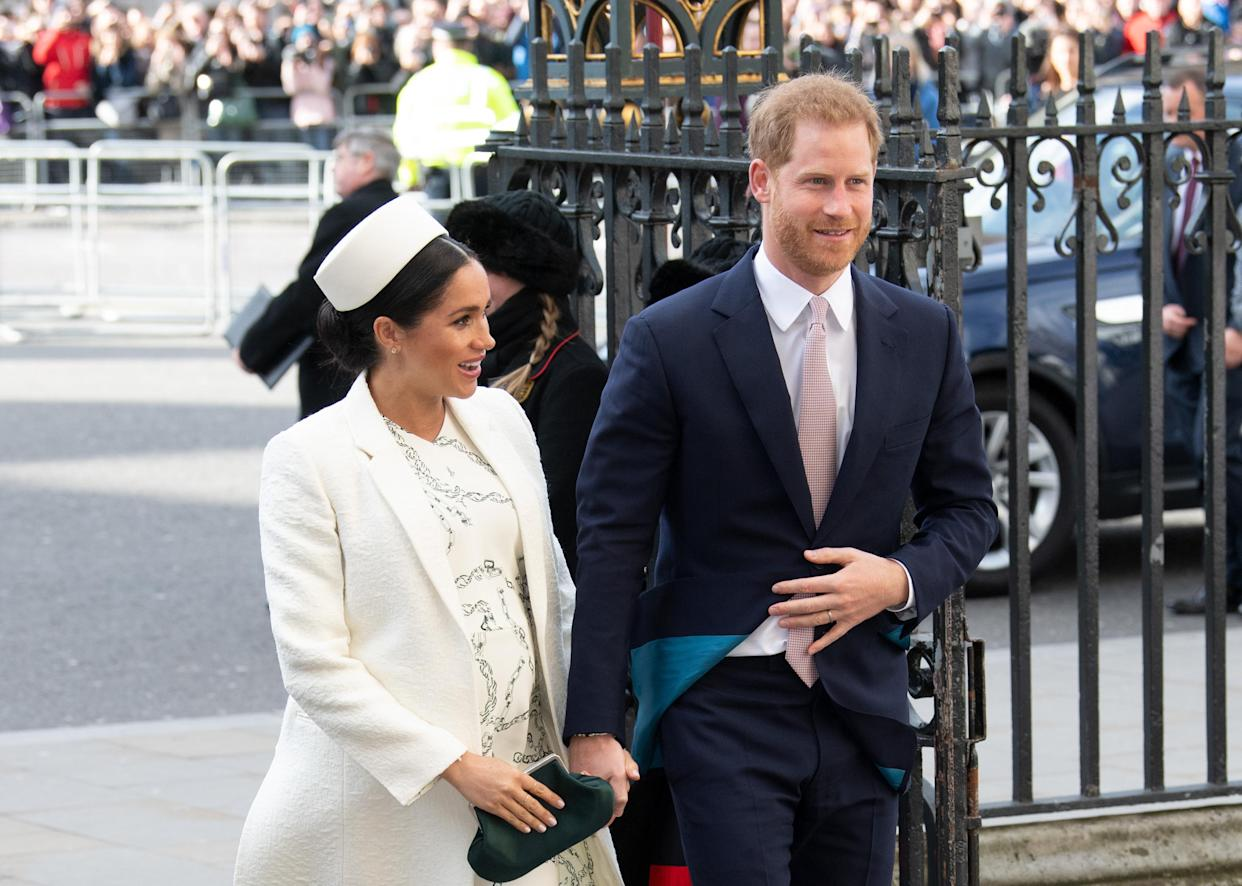 The Duke and Duchess of Sussex, pictured at the Commonwealth Day service in March [Photo: PA]