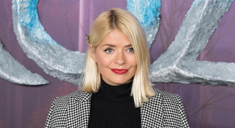 Holly Willoughby was forced to shoot the brand's latest collection in quarantine. (Getty Images)