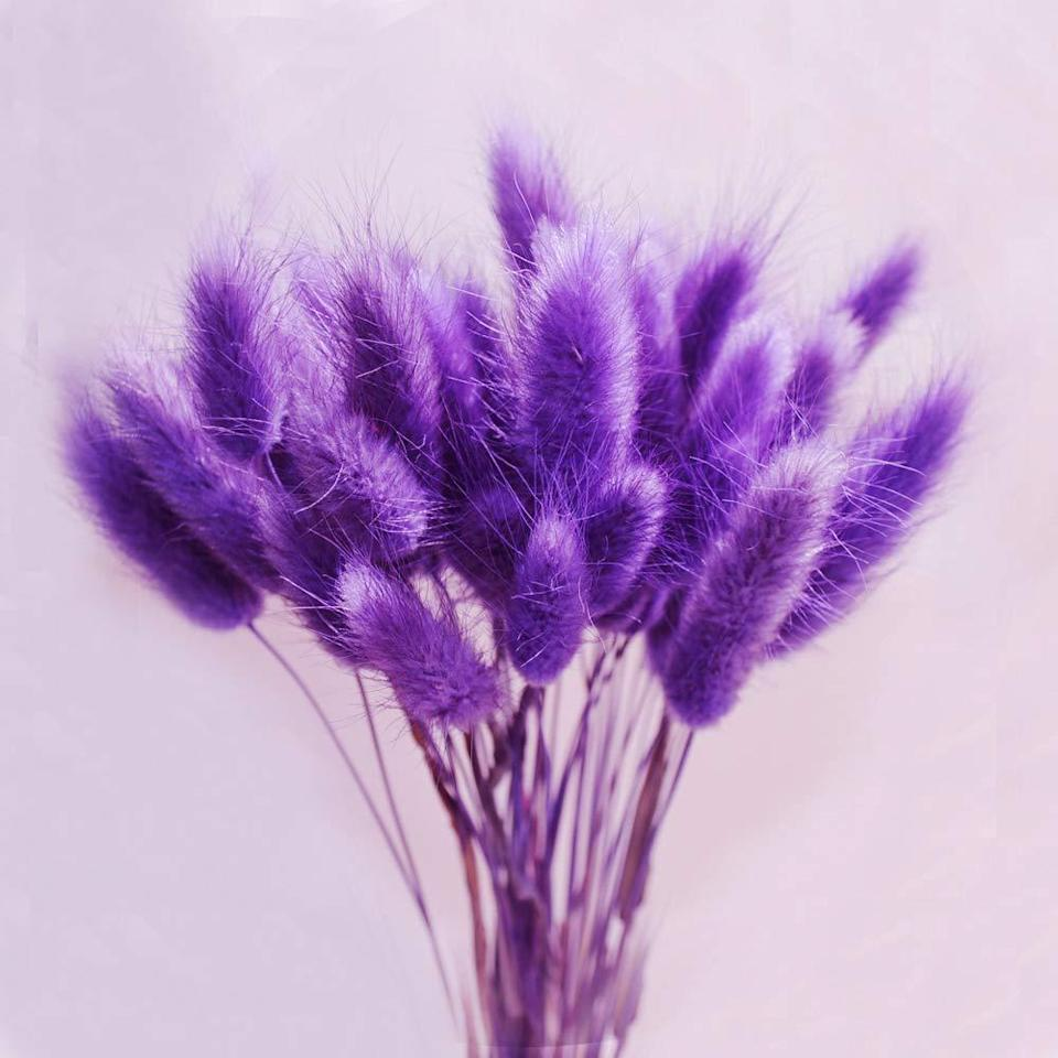 """<br><br><strong>Color Life</strong> Dried Pampas Grass (Deep Purple), $, available at <a href=""""https://amzn.to/35woPeE"""" rel=""""nofollow noopener"""" target=""""_blank"""" data-ylk=""""slk:Amazon"""" class=""""link rapid-noclick-resp"""">Amazon</a>"""