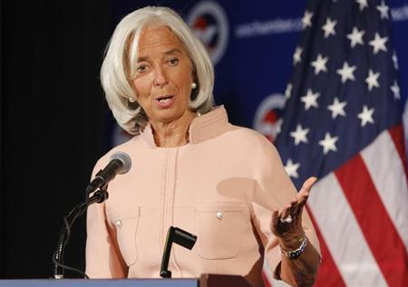 Lagarde delivers remarks during Peterson Institute for International Economics forum at U.S. Chamber of Commerce in Washington
