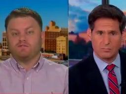 Accused Capitol rioter Anthony Antonio appears on CNN to apologise for participating and to blame his actions on Donald Trump (screengrab)