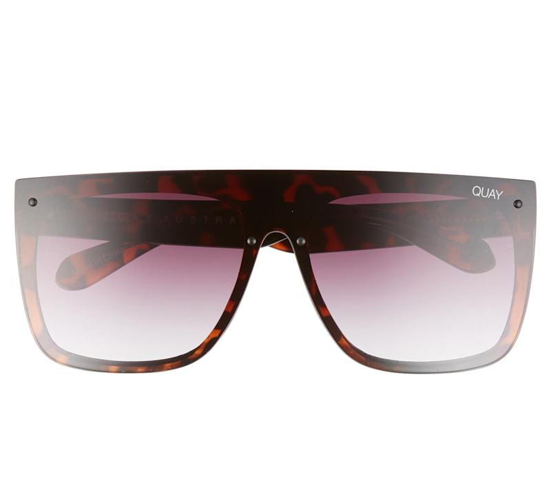 Quay Australia x Lizzo Jaded 146mm Flat Top Sunglasses. Image via Nordstrom.
