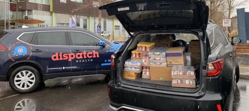 Nurses at DispatchHealth have been helping make sure the most vulnerable receive the groceries they need to live. (Photo: DispatchHealth)