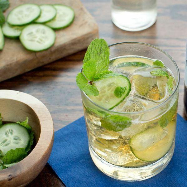 """<p>4 oz Angry Orchard Crisp Apple</p><p>1 oz White rum</p><p>1/2 oz Lime juice</p><p>1/2 oz Simple syrup</p><p>1 Dash Angostura bitters</p><p>2 Slices Cucumber (muddled)</p><p>5 to 6 Mint leaves (muddled)</p><p>Muddle mint and cucumber in a shaker then add all ingredients except cider. Shake with ice and fine strain into a rocks glass with ice and top with cider. Garnish with a mint sprig and cucumber wheel.</p><p><em>Via <a href=""""http://www.angryorchard.com/"""" rel=""""nofollow noopener"""" target=""""_blank"""" data-ylk=""""slk:Angry Orchard"""" class=""""link rapid-noclick-resp"""">Angry Orchard</a></em><br></p>"""