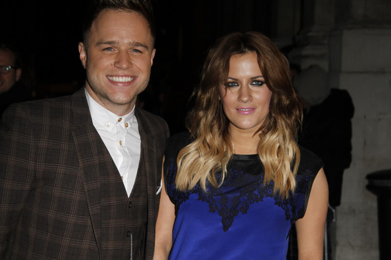 LONDON, UNITED KINGDOM - OCTOBER 29: Olly Murs & Caroline Flack seen arriving for the Pride of Britain awards on October 29, 2012 in London, England. (Photo by Simon James/FilmMagic)