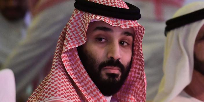 Mohammed bin Salman at the Future Investment Initiative FII conference in the Saudi capital Riyadh on October 24, 2018.