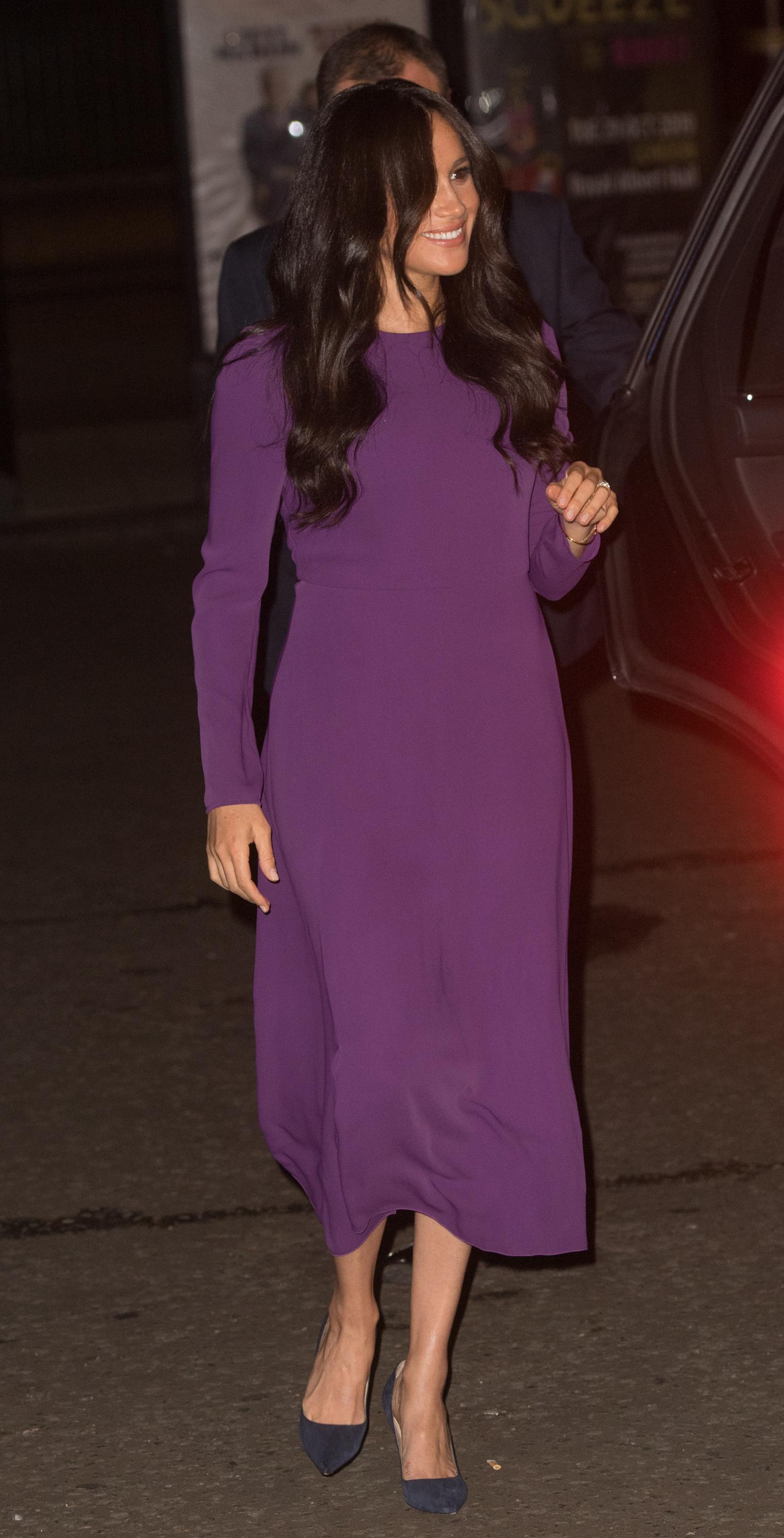 LONDON, ENGLAND - OCTOBER 22: Meghan, Duchess of Sussex attends the One Young World Summit Opening Ceremony at Royal Albert Hall on October 22, 2019 in London, England. HRH is Vice-President of The Queen's Commonwealth Trust, which is partnering with One Young World this year. (Photo by Samir Hussein/WireImage)