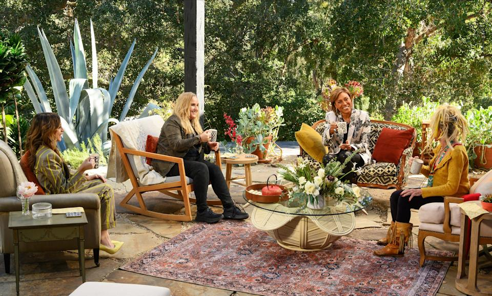 """Actress Josie Totah, musician Melissa Etheridge and fashion designer Betsey Johnson gather for the third episode of """"Turning the Tables with Robin Roberts."""""""