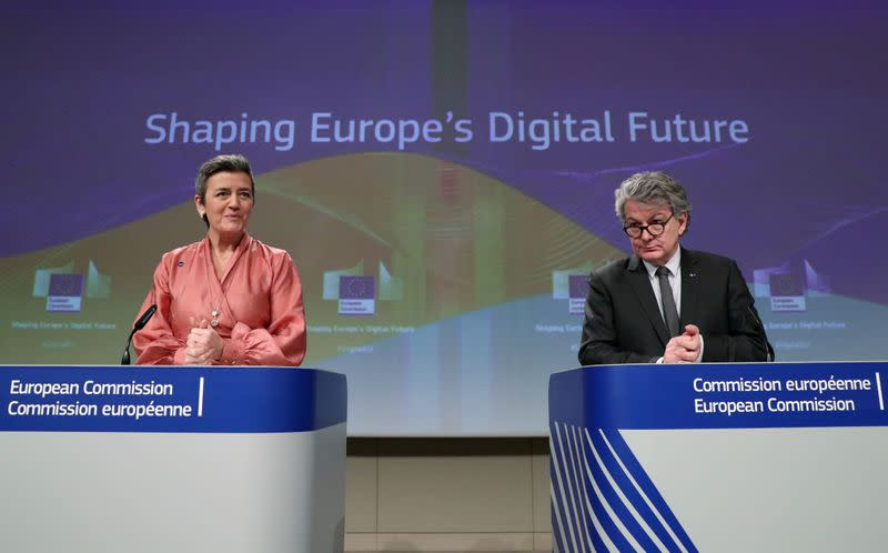 FILE PHOTO: European Commission presents its data/digital strategy in Brussels