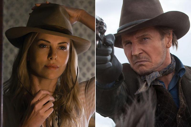 Charlize Theron and Liam Neeson in A Million Ways to Die in the West (2014) | Bluegrass/Fuzzy Door Prods/Universal/Kobal/Shutterstock (2)