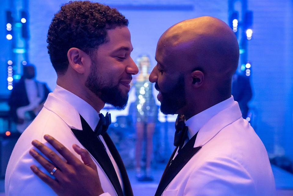 <p>FOX's <em>Empire</em>, created by Lee Daniels, made history when it aired television's first Black same-sex wedding. In the episode, Jussie Smollett's character, Jamal, wed Kai, played by Toby Onwumere. </p>