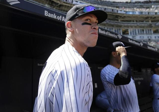 Yankees outfielder Aaron Judge proved once again that he can do it all on the baseball field. (AP)