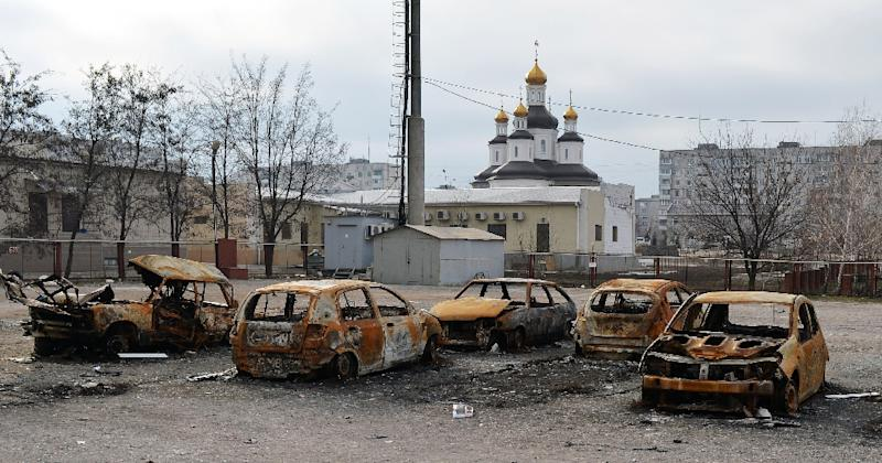 Cars Burned After Shelling Near A Church In The Southeastern Ukrainian City  Of Mariupol, Donetsk