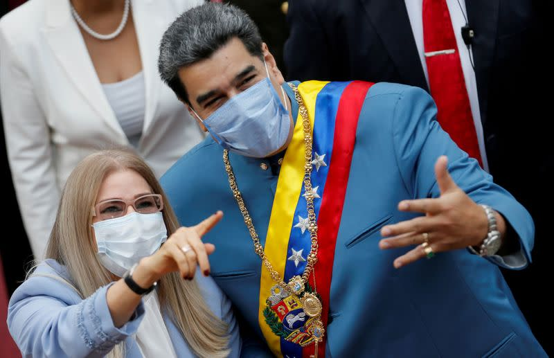 FILE PHOTO: Venezuela's President Nicolas Maduro delivers his annual state of the nation speech during a special session of the National Constituent Assembly, in Caracas