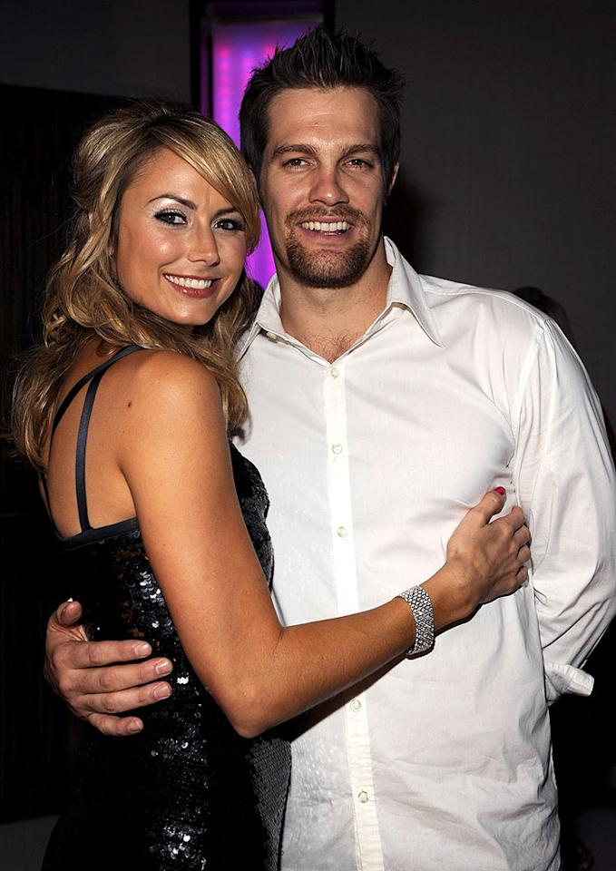 """Stacy Keibler and her handsome beau Geoff Stults were living it up inside LIV. Kevin Mazur/<a href=""""http://www.wireimage.com"""" target=""""new"""">WireImage.com</a> - December 31, 2008"""
