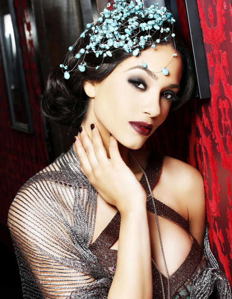 Miss New Jersey USA 2013, Libell Duran, poses for fashion photographer Fadil Berisha in a 1920's Great Gatsby inspired wardrobe by Sherri Hill at the Planet Hollywood Resort and Casino, in Las Vegas Nevada.  Tune in to the crowning moment LIVE on NBC starting at 9:00 PM ET on June 16, 2013 from PH Live.