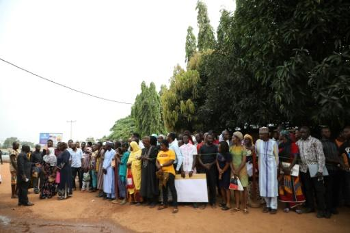 Crowds gather outside Ahmad Isah's radio studio every morning to get a chance to air their grievances