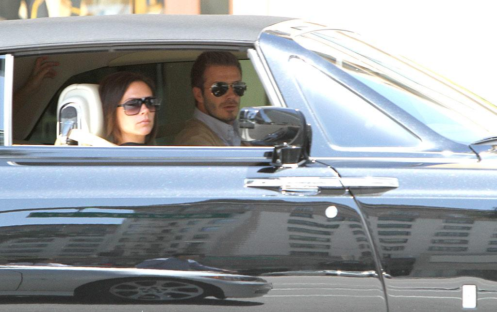 """Posh and Becks piled their boys into the back of their Rolls Royce for brunch at Bouchon in Beverly Hills. Blanco/<a href=""""http://www.x17online.com"""" target=""""new"""">X17 Online</a> - May 9, 2010"""