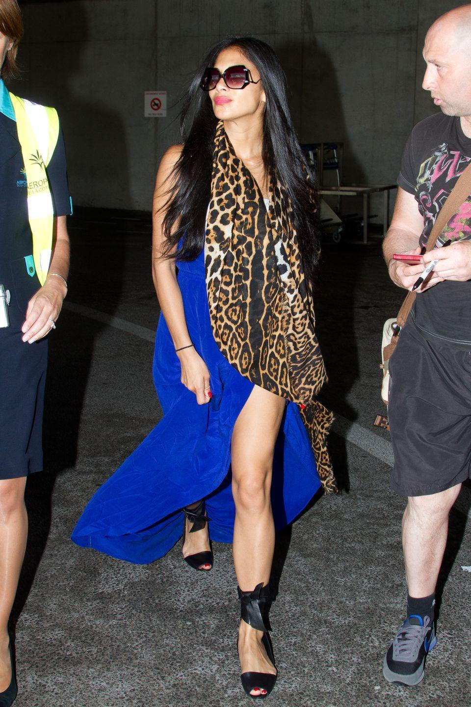 <p><strong>Nicole Scherzinger, 2012: </strong>How on earth is she not paranoid that she's stepping on the back of her dress the entire time?</p>