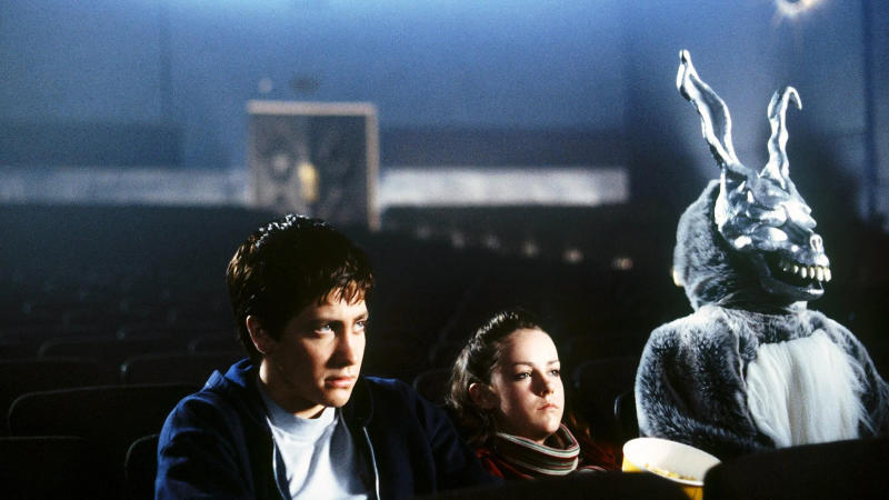 Jake Gyllenhaal appeared alongside a demonic rabbit in 'Donnie Darko'. (Credit: Newmarket Films)
