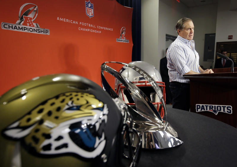 Bill Belichick is eyeing his eighth trip to the Super Bowl as head coach of the New England Patriots. (AP)