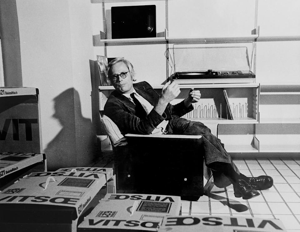 Dieter Rams—the spiritual godfather of GQ's new Quality Issue—at the first Vitsoe shop in Frankfurt, 1971.