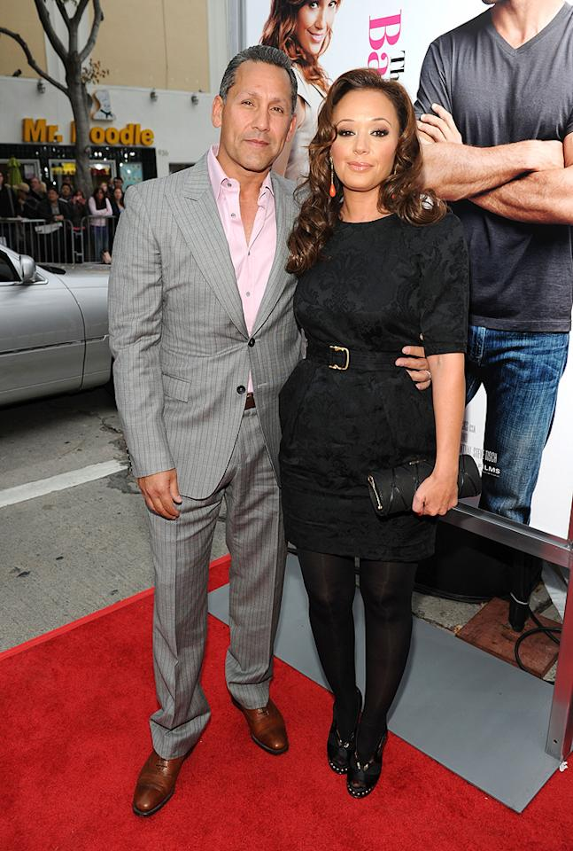 """<a href=""""http://movies.yahoo.com/movie/contributor/1800319853"""">Leah Remini</a> and guest at the Los Angeles premiere of <a href=""""http://movies.yahoo.com/movie/1810107558/info"""">The Back-up Plan</a> - 04/21/2010"""