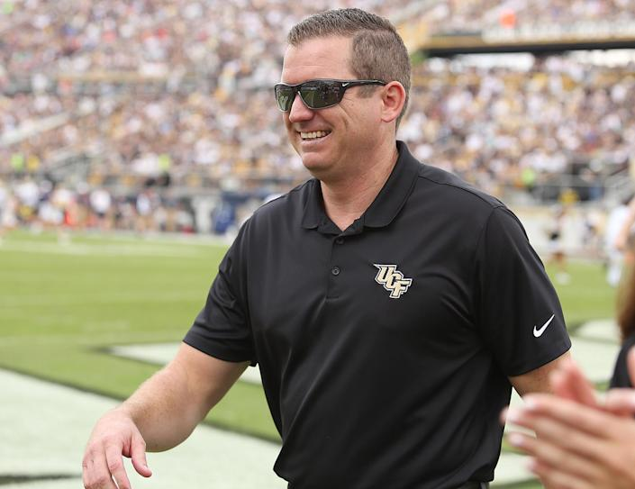 UCF athletic director Danny White smiles during action against at Spectrum Stadium in Orlando, Fla., on Saturday, Nov. 10, 2018. UCF won, 35-24. (Stephen M. Dowell/Orlando Sentinel/Tribune News Service via Getty Images)